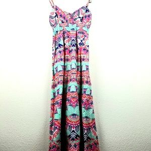 Aeropostale NWT dress MAXI long printed small